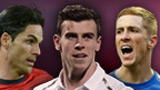 Mikel Arteta, Gareth Bale and Fernando Torres