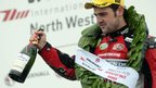 Michael Dunlop was declared the winner of the Supersport race which was stopped after two laps