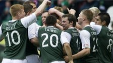 Hibs celebrate