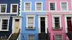 A row of terraced houses are pictured in west London, on August 30, 2011