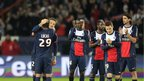 David Beckham applauded by PSG team-mates
