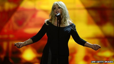 Bonnie Tyler performs during the final of the 2013 Eurovision Song Contest in Malmo, Sweden, on 18 May 2013