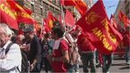 Anti-austerity protesters in Rome