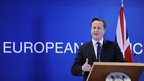 David Cameron at the EU in Brussels in December