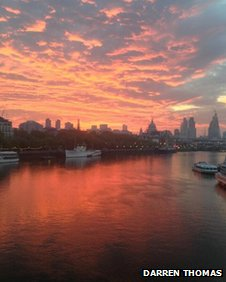 Sunrise over the Thames