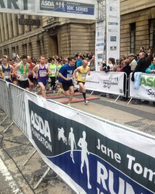 Runners at the Hull 10k