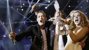 The winners of Eurovision