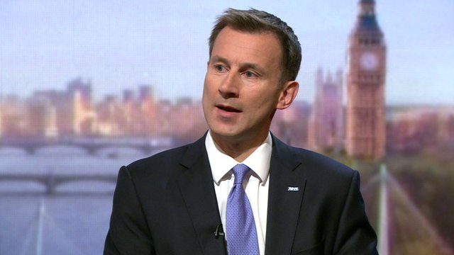 Tories 'united' on Europe, says Hunt...
