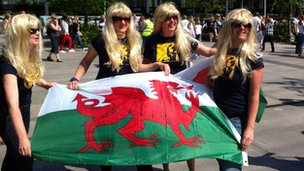Bonnie Tyler fans at the Eurovision Song Contest