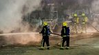 Lorry fire, Great Warley, Essex