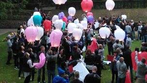 Vigil in Swindon's Town Gardens