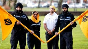 Sikh officers from West Midlands Police