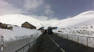 The roads on Les Granges du Galibier