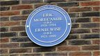 Memorial plaque for Eric Morecambe and Ernie Wise at Teddington Studios