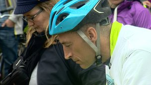 Graeme Obree during the minute's silence