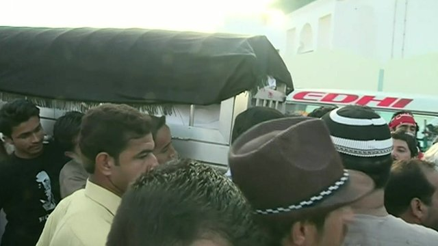VIDEO: Murdered Pakistan politician buried...