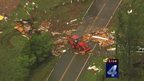 TV images of damage in Wellston, Oklahoma