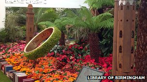 Library of Birmingham garden at the RHS Chelsea Flower Show 2013