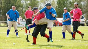 Shinty re-enactment