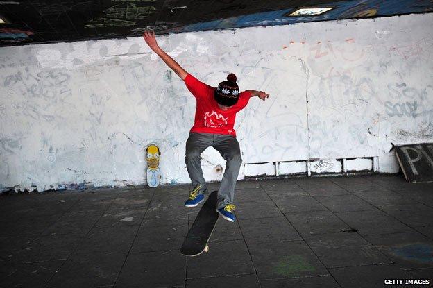 southbank skateboarder