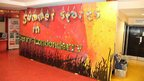 Backdrop for BBC Learning Radio 1 Academy Live Lounge, created by young designers at a workshop