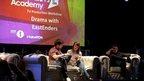 EastEnders' cast hosting a tv production workshop
