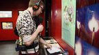 Phil Taggart broadcasting live from BBC Learning's Radio 1 Academy
