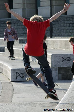 Skateboarder in Bristol