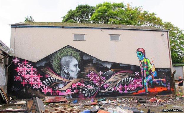 """Punked"" graffiti"