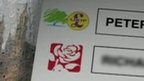 Mock ballot paper