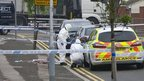 Police at scene of shooting Dunstable Road, Luton