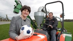Arlene Foster with Clive Richardson
