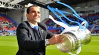 Wigan manager Roberto Martinez with the FA Cup trophy