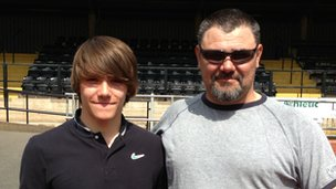Ryan Gorman and his dad Lee