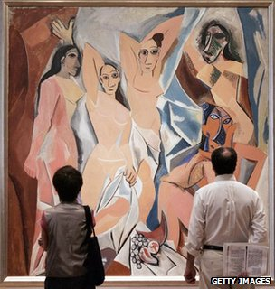 Les Demoiselles hanging in the Museum of Modern Art in New York