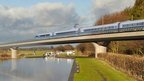HS2 train mock-up image