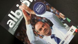 Matchday programme of West Bromwich Albion v Manchester United