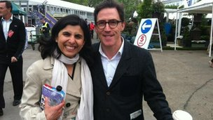 Ayshea Buksh and Rob Brydon
