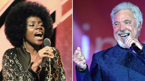 Composite image of Gloria Gaynor, left, and Tom Jones