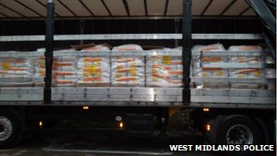 Lorry filled with cocaine
