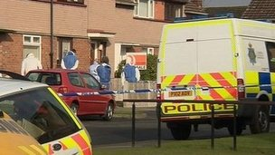 Scene of Carlisle stabbing