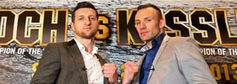 Carl Froch (left) and Mikkel Kessler