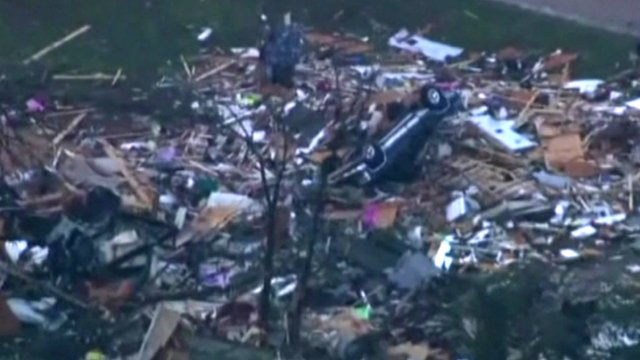 Huge tornado hits Oklahoma City...