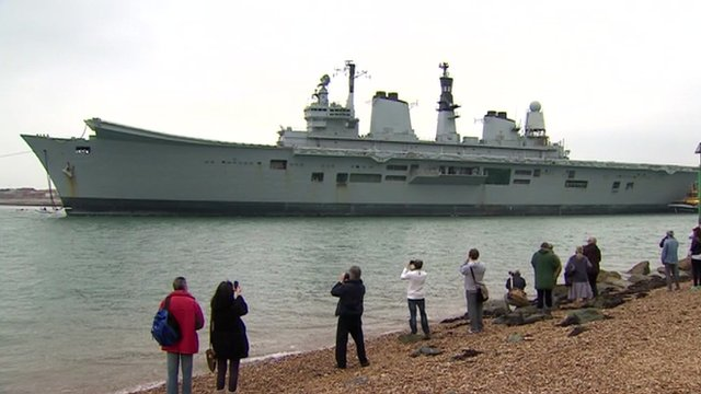 VIDEO: Ark Royal makes final journey...