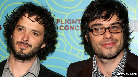 Actors Brett McKenzie and Jemaine Clement from Flight of the Conchords