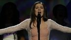 Dina Garipova sang Russia&#039;s entry at the Eurovision Song Contest, 18 May 2013