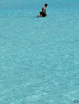 Couple swimming in sea, Cyprus (Image: AP)