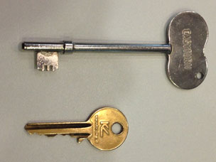 Radar key and Yale key