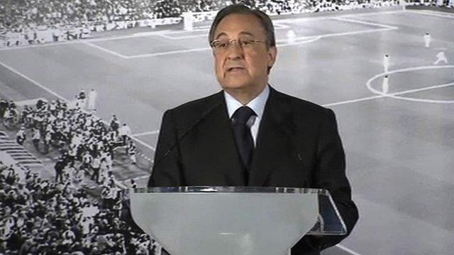 Real Madrid president Florentine Perez