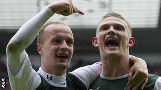 Leigh Griffiths and Ross Caldwell